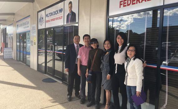 Dinh Nguyen Kha's mother met an Australian Labor Party politician