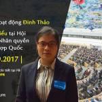 Đại diện của VOICE phát biểu trước Hội đồng Nhân quyền LHQ