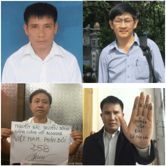 They_are_(from_left_to_right_and_top_to_bottom_above)_Nguyen_Trung_Ton_(13_year_sentence)_Truong_Minh_Duc_(13_years)_Nguyen_Bac_Truyen_(11_years)_and_Pham_Van_Troi_(seven_years)_VIETNAM-VOICE