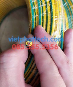 Tiếp địa vàng xanh M6 loại dây cứng