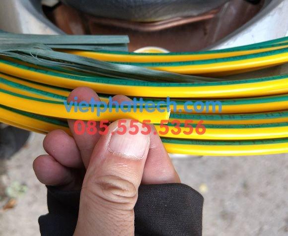 Dây tiếp địa vàng xanh M16, dây điện 1x16