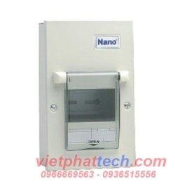 tủ điện nano vỏ kim loại lắp 2 đến 4 module