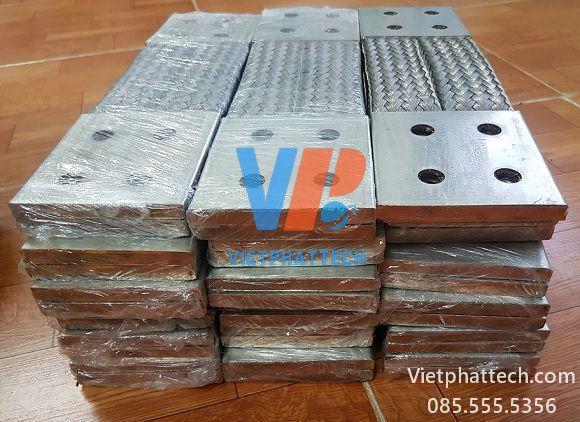 Thanh nối đồng bện 350x100x10mm cho máy bến áp 36