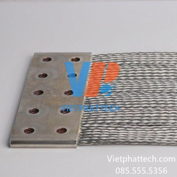Thanh nối đồng mềm 400x200x10mm Việt Phát tech