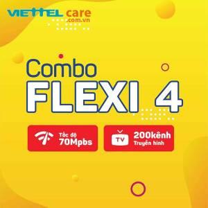 combo flexi 4 70 Mbps 200 kênh