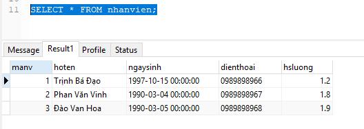 Câu lệnh INSERT trong MySQL