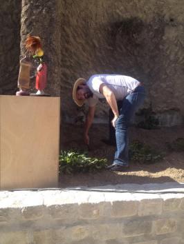 Adam, le jardinier partageur en pleine action...