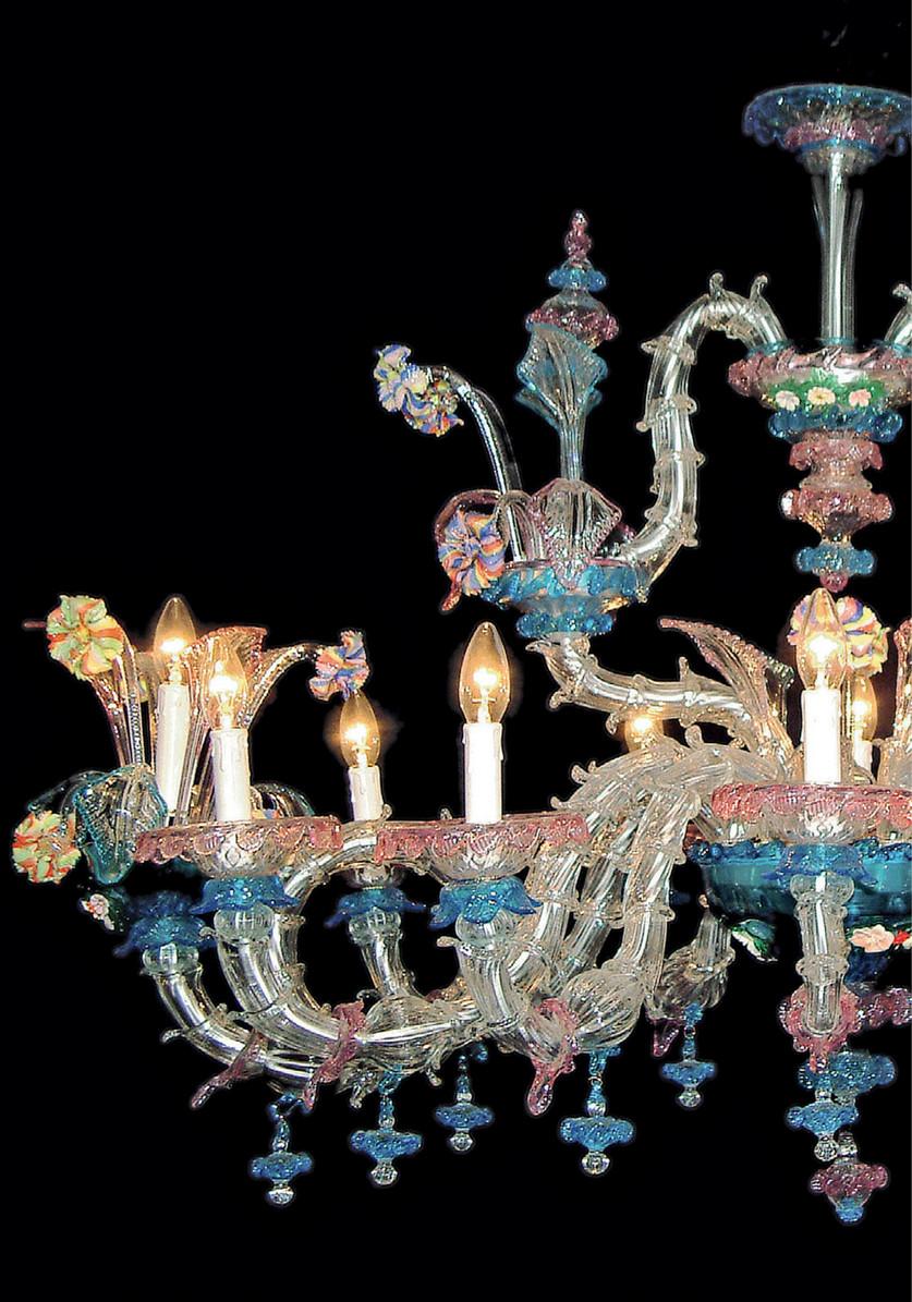 Sogni di cristallo® lampadario vetro soffiato veneziano ermes rosa, 3 luci, montatura oro. Sogni Di Cristallo Collection Page 226 227 Created With Publitas Com
