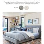 Living Spaces Bed Lookbook Summer 2019 Mariah Eastern King Velvet Upholstered Panel Bed
