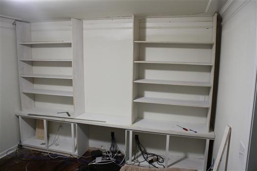 Building A Built-in Bookshelf Wall