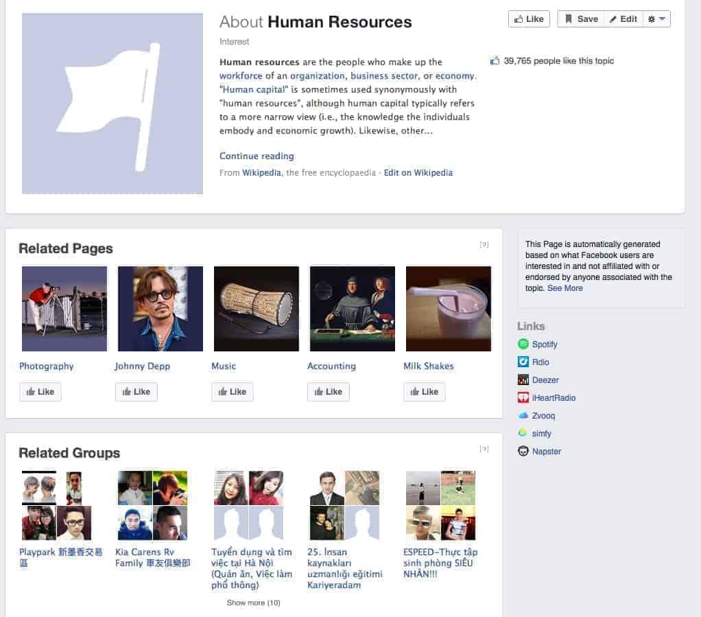 HR Facebook