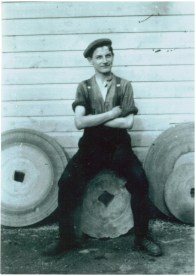 1910 Factory Worker with Grinding Wheels