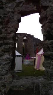 Our camp at Ashby De La Zouche Castle