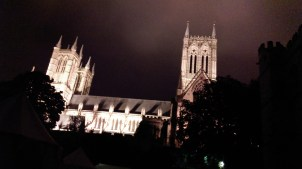 Lincoln at night
