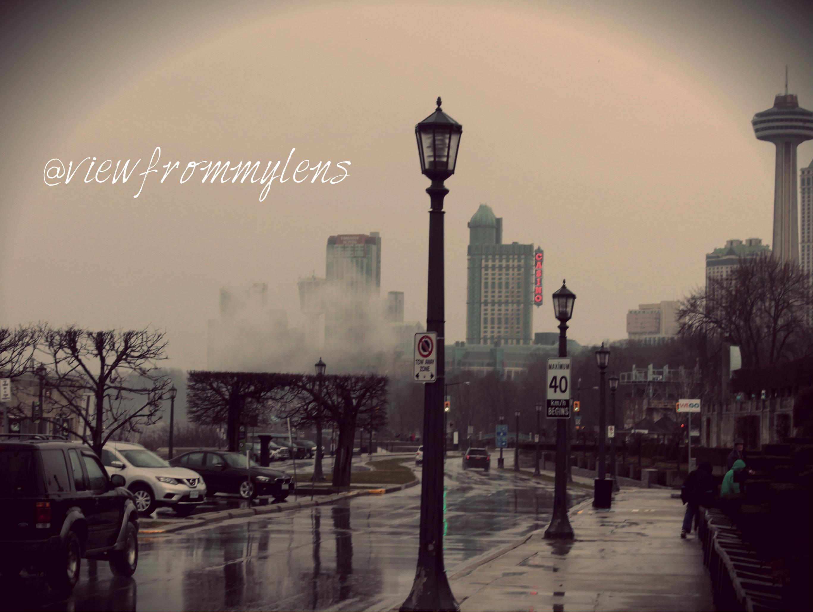 Rainy Niagara Falls