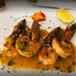 French style garlic prawns at La Chaumière in Accra, 20 places to eat in accra