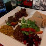 Injera and lamb stew at Simret Ethiopian Restaurant in Accra, best restaurants in accra