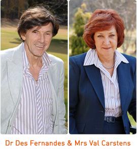Dr Des Fernandes and sister Mrs Val Carstens