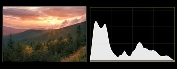 An example of a histogram (via Shutterbug)