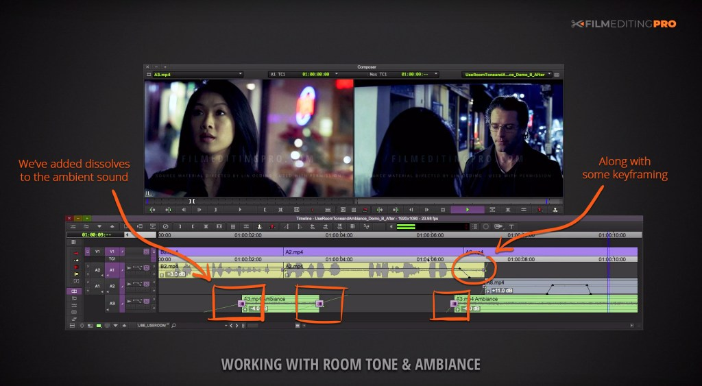 'How to Cut Smoother Dialogue Using Room Tone & Ambience' | Film Editing Pro