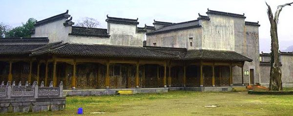 The playground of the ancient village school in Hongcun