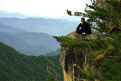 A 100-year old Daoist meditating