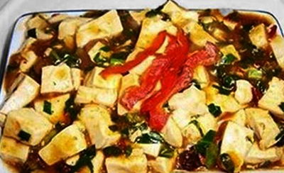 Spicy Tofu with Soy Sauce