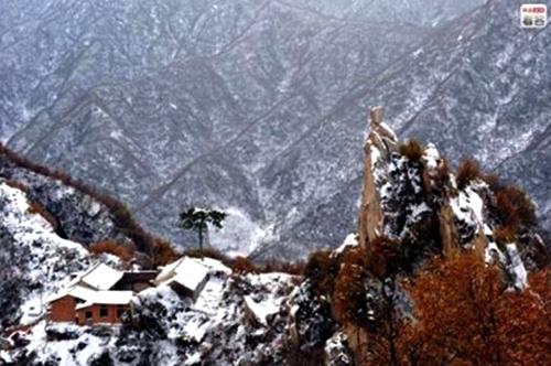 A temple hidden in deep mountain