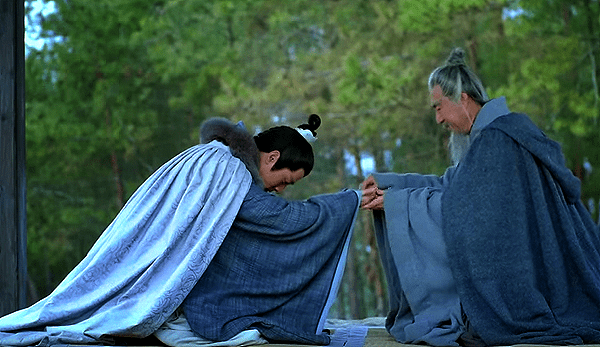 Old scholar returning jade cicada to Mei Changsu
