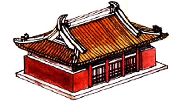 Traditional Chinese gabled roof