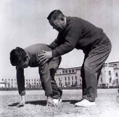 Liu Changchun training young athlete