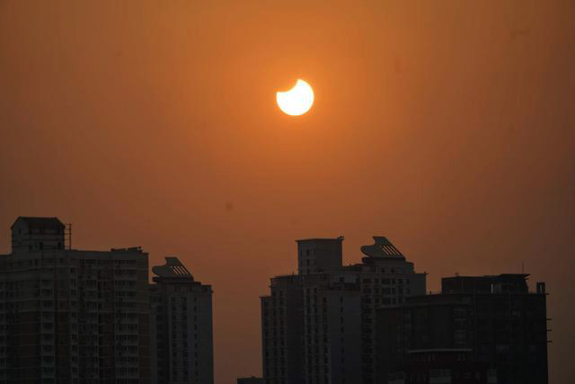 Beijing sun eclipse 2017
