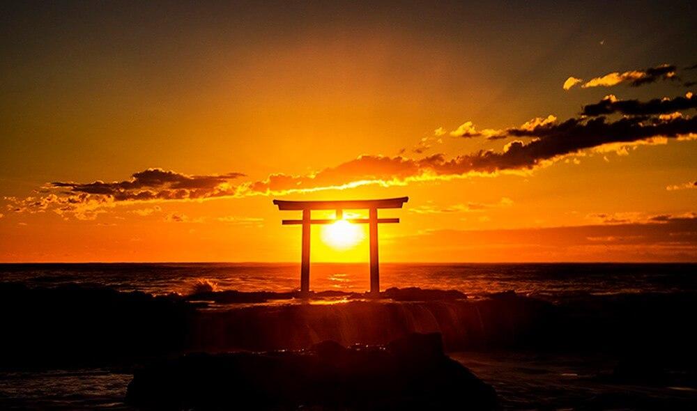 Land der aufgehenden Sonne.