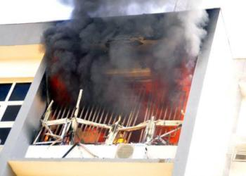 Fire guts INEC headquarters in Abuja