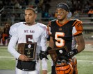MVP: RCC's line backer Jonah Moi and Mt. SAC's quarter back Justin Alo were both awarded MVP at the state semifinals held at RCC on Nov. 29, 2014. (Michael Walter | Asst. Photo Editor)