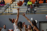 Point guard Vyvy Tran shoots a layup versus Glendale in the 2nd annual Earn Our Stripes Tournament on Nov. 13.