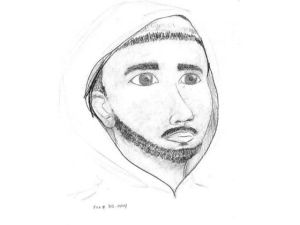 POLICE SKETCH: A suspect depicted in this sketch is wanted for an alleged attempted rape in a bathroom at Riverside City College Jan. 15. (Image Courtesy of Riverside City College)