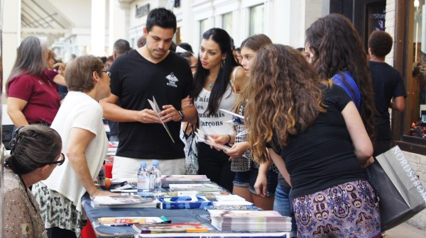 Representatives at the Riverside College and Career Fair held Sept. 20 gain the interest of their audience by being extremely friendly and informative.