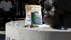 Members of the Riverside community show solidarity at vigil for victims of racial violence