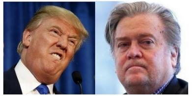 Donald Trump and Steve Bannon