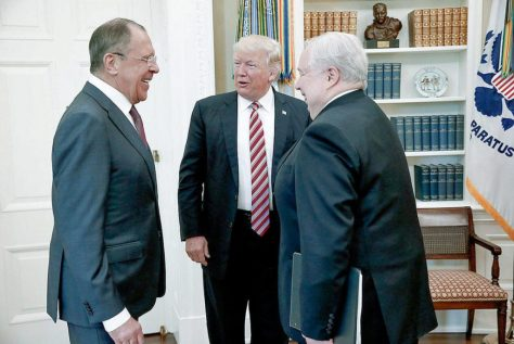 Trump welcoming Sergey Lavrov and Sergey Kislyak to White House