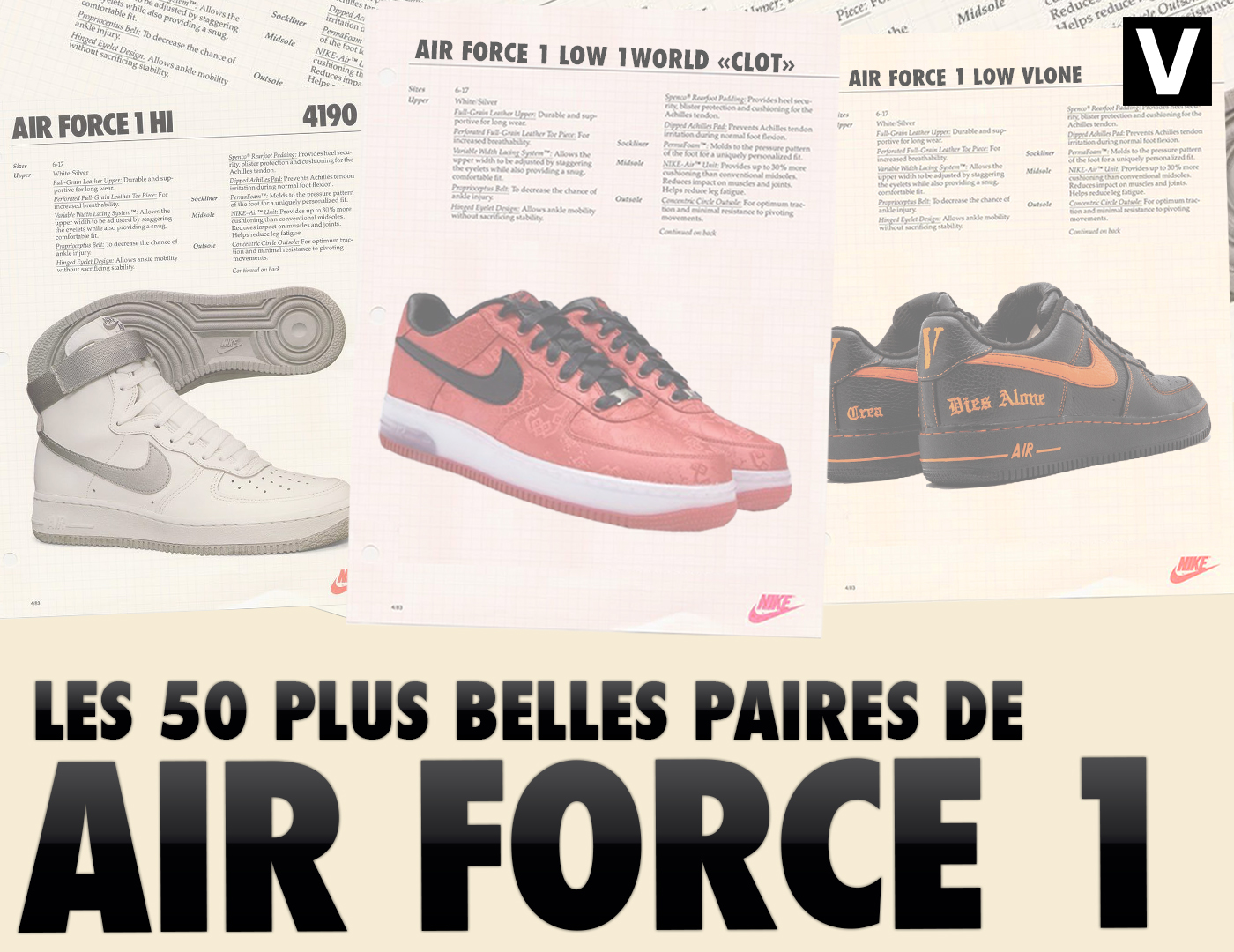 air force 1 motif coeur
