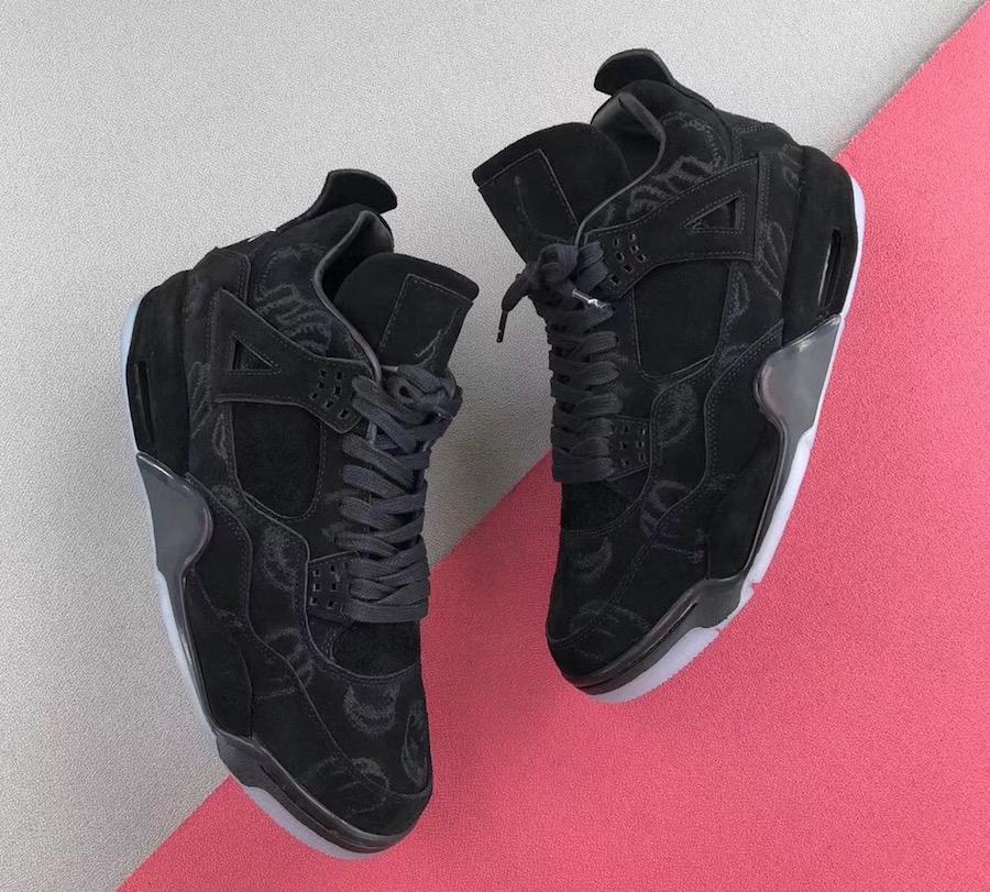 Air Jordan 4 Kaws Black