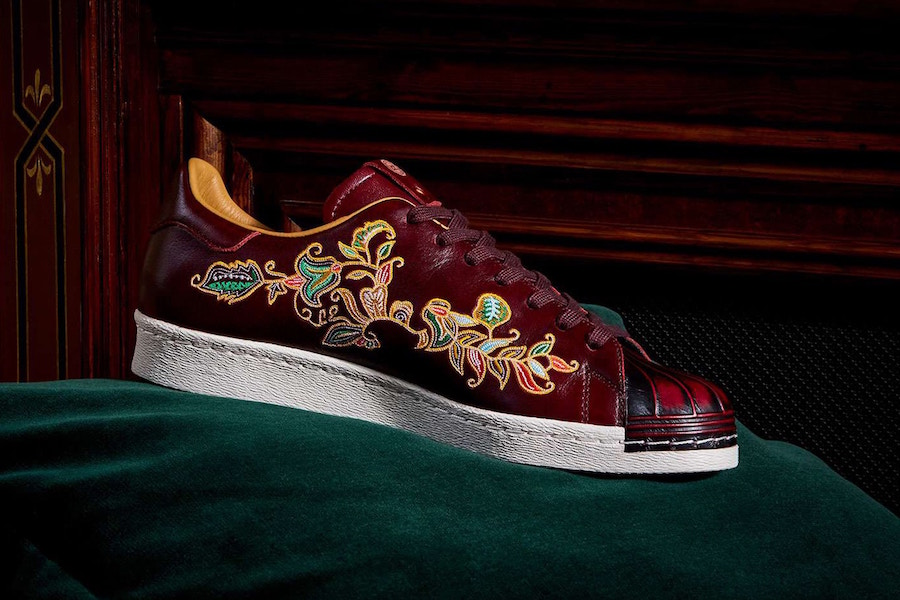 "LTD Edition x adidas Superstar ""Burnished Burgundy"""