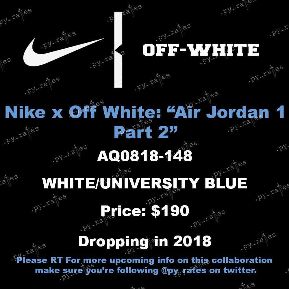 Off White X Air Jordan 1 University Blue