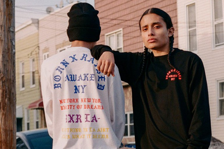 Awake NY BornxRaised collection caritative lookbook