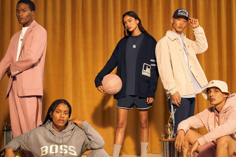 BOSS Russel Athletic collection collaboration