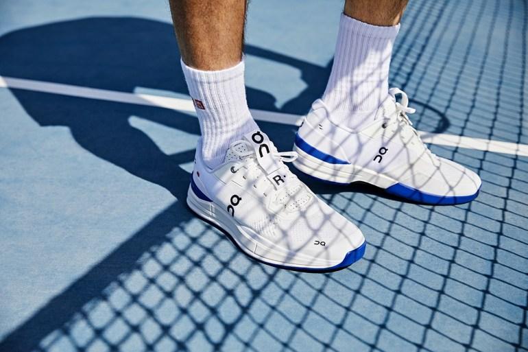 roger federer on sneakers tennis