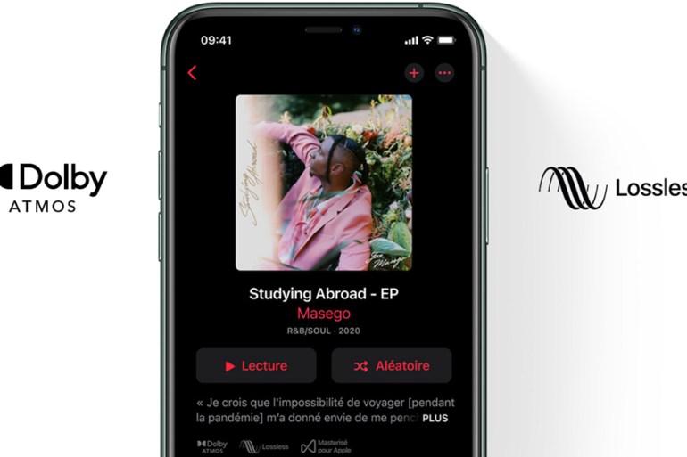 apple music lossless audio sans perte son spatialisé streaming