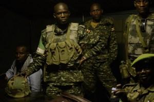 Afgooye, Somalie. Briefing du contingent ougandais de l'Amisom